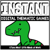 INSTANT Digital Thematic Mini Games: DINOSAURS LOADED TO S