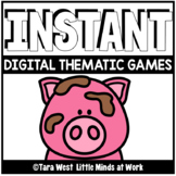 INSTANT Digital Thematic Mini Games: PIGS LOADED TO SEESAW