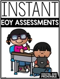 INSTANT ELA & Math EOY Assessments | GOOGLE™ READY & SEESAW | Distance Learning