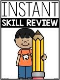 End of Year ELA & Math Skill Review Sheets   GOOGLE™ SLIDES READY  