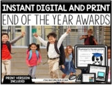 INSTANT EOY AWARDS DIGITAL GOOGLE SLIDES™ + PRINT PreK, K,