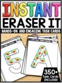 INSTANT Mini Eraser Exploration Hands-On Task Cards