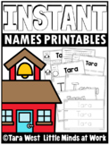 INSTANT Names Printables FULLY EDITABLE