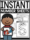 INSTANT Number Sheets