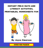 INSTANT PRE-K MATH AND LITERACY ACTIVITIES, PRINTABLES, WORKSHEETS FUN w 455 pp