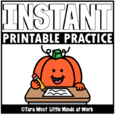 INSTANT Printable Practice Sheets: OCTOBER