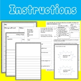 INSTRUCTIONS WRITING ACTIVITIES - RECIPES