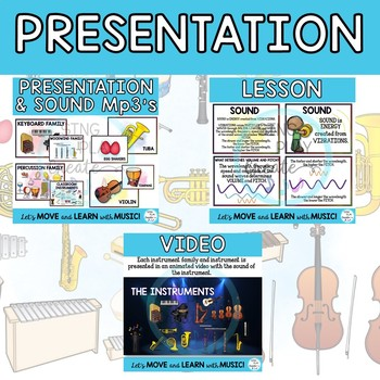 Instrument Families: Orchestra and Classroom Mp3's,Story, Worksheets and Games