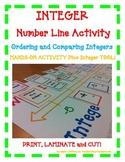 DIGITAL INTEGER Number Line|positive negative|Hands-On |Distance Learning