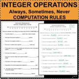 INTEGER OPERATIONS RULES Computation