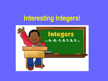 INTEGERS Adding and Subtracting