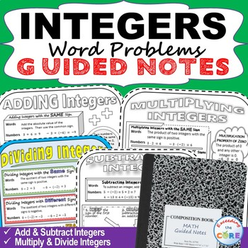 INTEGERS Doodle Notes (Study Guides)