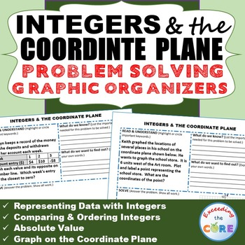 INTEGERS & the COORDINATE PLANE  Word Problems with Graphi