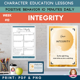 INTEGRITY - Positive Behavior | Daily Character Education