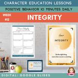 INTEGRITY   Google Slides   Positive Behavior   Daily Char