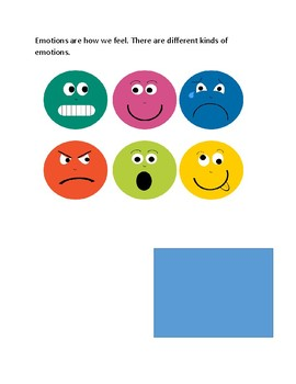 INTERACTIVE AND ADAPTED EMOTIONS AND FEELINGS BOOK WITH PICTURE CUES