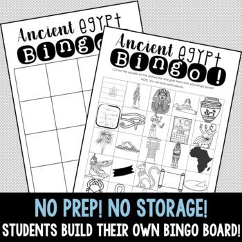 INTERACTIVE Ancient Egypt Build A Bingo  - NO PREP