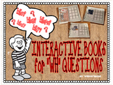 """INTERACTIVE BOOKS for """"WH"""" QUESTION COMPREHENSION- Speech Therapy"""
