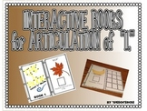 "SPEECH THERAPY INTERACTIVE BOOKS for ARTICULATION of ""L"""