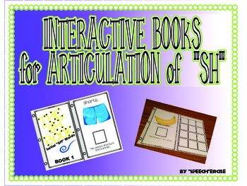 """SPEECH THERAPY INTERACTIVE BOOKS for ARTICULATION of """"SH"""""""