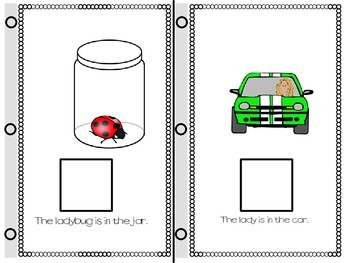 SPEECH THERAPY INTERACTIVE BOOKS for PREPOSITIONS