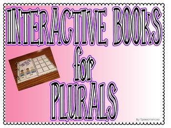 SPEECH THERAPY INTERACTIVE BOOKS for REGULAR & IRREGULAR PLURALS