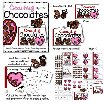 INTERACTIVE COUNTING BOOKLET : COUNTING CHOCOLATES