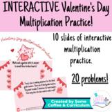 INTERACTIVE Digital Valentine's Day Multiplication Practic