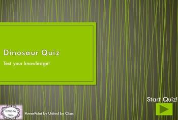 *INTERACTIVE* Dinosaur PowerPoint Quiz