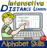INTERACTIVE Distance-learning / Telehealth: Alphabet Skills. Zoom Compatible