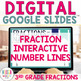 INTERACTIVE Fractions on a Number Line Digital Task Cards for Google Classroom
