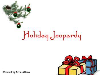 INTERACTIVE HOLIDAY CHRISTMAS ELEMENTARY JEOPARDY GAME/PROMETHEAN ~ FULL VERSION