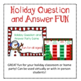 Elementary Christmas Holiday Party Game - Fun for Distance