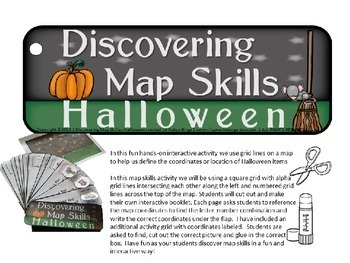 halloween activity kindergarten map skills