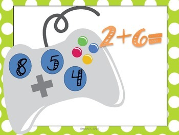 INTERACTIVE: Math Addition PowerPoint Video Game #1