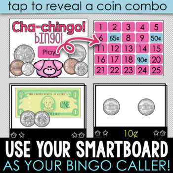 INTERACTIVE Money Build A Bingo American Version - NO PREP