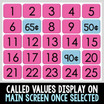 INTERACTIVE Money Build A Bingo Canadian Version - NO PREP