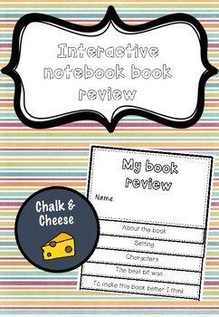 BOOK REVIEW INTERACTIVE NOTEBOOK