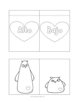 INTERACTIVE NOTEBOOK: Los opuestos en San Valentín {SPANISH}