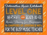 INTERACTIVE NOTEBOOK:  MUSIC THEORY - LEVEL I
