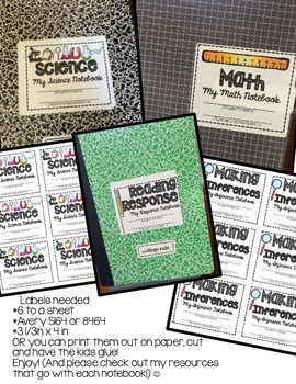 INTERACTIVE NOTEBOOK STARTER KIT (LABELS FREEBIE)