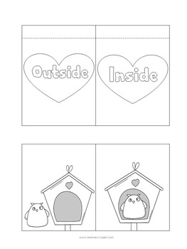 INTERACTIVE NOTEBOOK: Valentine's Day Opposites {ENGLISH}