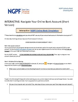 INTERACTIVE: Navigate Your Online Bank Account (Short Version)