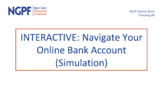 INTERACTIVE: Navigate Your Online Bank Account (Simulation)