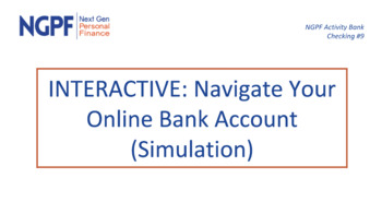 INTERACTIVE: Navigate Your Online Bank Account (Extended