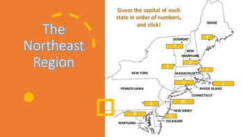 INTERACTIVE POWERPOINT NORTHEAST Region of the U.S. Vocabulary and States