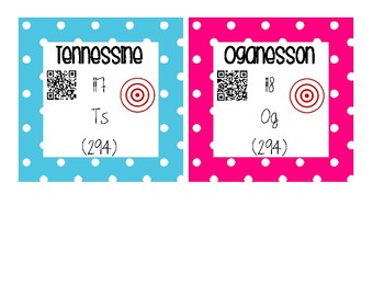 INTERACTIVE Periodic Table Cards - Color Coded Groupings
