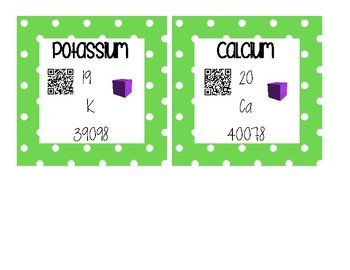 INTERACTIVE Periodic Table Cards - Metals, Metalloids, and Nonmetals