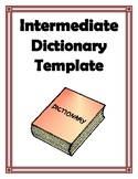 INTERMEDIATE DICTIONARY TEMPLATE