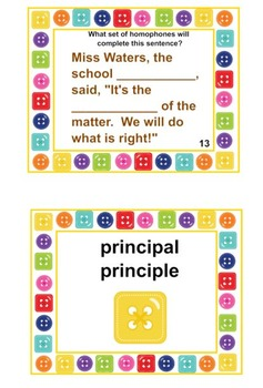 INTERMEDIATE PRINTABLE Homophone Card Set